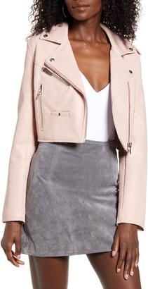 Blank NYC BLANKNYC Crop Faux Leather Moto Jacket
