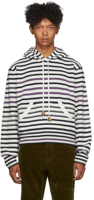 Wales Bonner White Breton Ivory Stripe Pullover Hoodie
