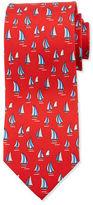 Salvatore Ferragamo Sailboat-Print Silk Tie