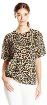 Juicy Couture Black Label Women's Knit Tangier Leopard Burnout Graphic Tee