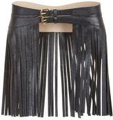BCBGMAXAZRIA Fringe Faux-Leather Fringe Waist Belt
