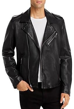 Karl Lagerfeld Paris Bonded Leather Regular Fit Jacket