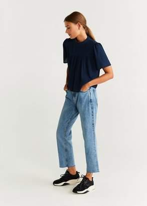 MANGO Plumeti cotton blouse