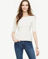 Ann Taylor Petite Shirred Peplum Sweater