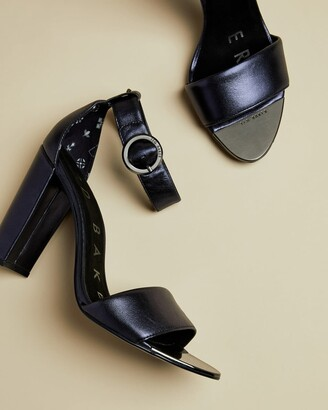 Ted Baker Metallic Leather Heeled Sandals