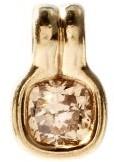 Fernando Jorge Cushion Diamond & 18kt Beige-gold Pendant - Beige Gold