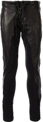 Greg Lauren skinny-fit biker trousers