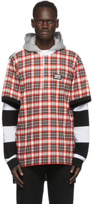 Burberry Black and Red Check Reconstructed Rugby shirt