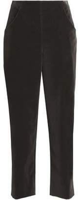 Vanessa Seward Velvet Straight-leg Pants
