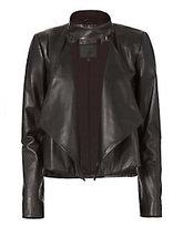 Exclusive for Intermix Dalilah Leather Draped Jacket