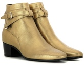 Saint Laurent Blake 40 Metallic Leather Ankle Boots