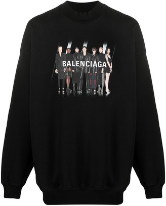 Balenciaga Real BB graphic-print cotton hoodie