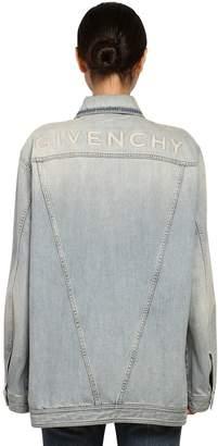 Givenchy Oversize Logo Cotton Denim Jacket