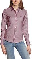 Gant Women's Co Pop Stretch Preppy Stripe Shirt Regular Fit Long Sleeve Blouse