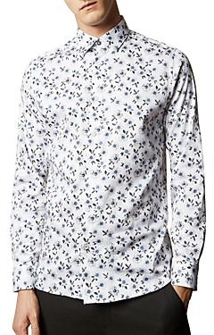 Ted Baker Wewill Floral Print Slim Fit Button-Down Shirt