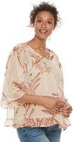 Maternity a:glow Print Chiffon Ruffled Top