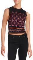 Rachel Zoe Patterned Knit Crop Top