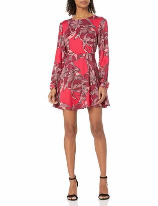 MinkPink Women's Femme Fatal Floral Print Fit and Flare Dress