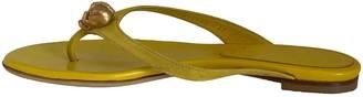 Alexander McQueen Yellow Suede Sandals