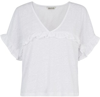 Whistles Linen Frill Top