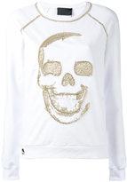 Philipp Plein skull emblem sweatshirt - women - Cotton/Spandex/Elastane - XS