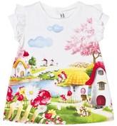 Mayoral Landscape Print Dress