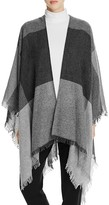 Eileen Fisher Check Fringe Wrap