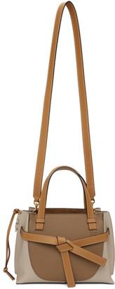 Loewe Brown and Beige Mini Gate Top Handle Bag