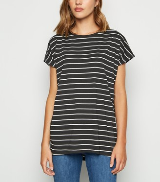 New Look Stripe Longline T-Shirt