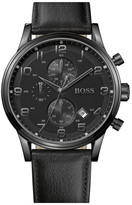 HUGO BOSS Men's Pebbled Leather Watch