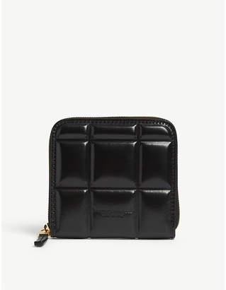Bottega Veneta Padded small zip-up leather wallet