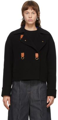 Loewe Black Wool and Cashmere Cropped Jacket