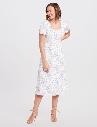 Draper James Floral Button Front Dress