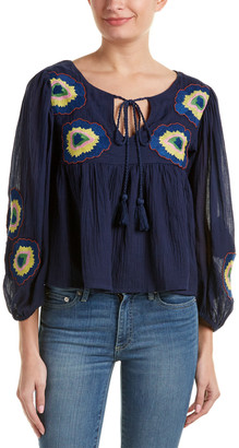 Christophe Sauvat Embroidered Flower Top