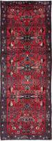 """Ecarpetgallery Hand-knotted Hamadan Red Wool Rug 3'7""""x10'0"""""""