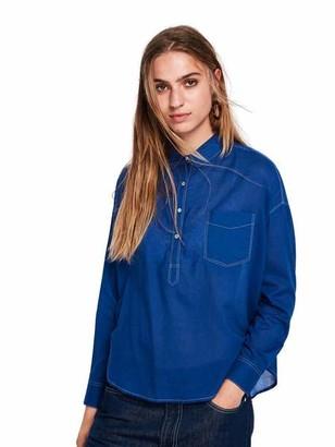 Scotch & Soda Blue Lightweight Cotton Shirt - xsmall - Blue