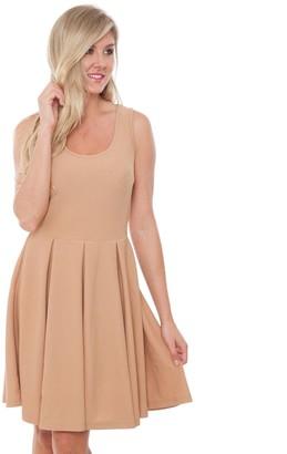 White Mark Women's Fit & Flare Mini Dress