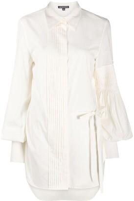 Ann Demeulemeester Pleated Panel Cotton Shirt