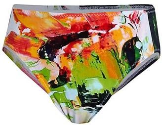 Norma Kamali High-Waisted Printed Bikini Bottoms