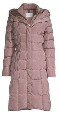 Cole Haan Hooded Quilted Down Coat
