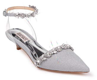 Badgley Mischka Collection Addison Crystal Embellished Ankle Strap Sandal