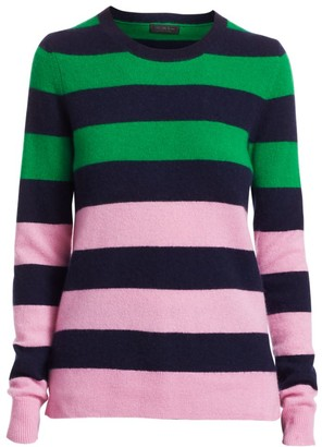 Saks Fifth Avenue COLLECTION Striped Colorblock Cashmere Sweater
