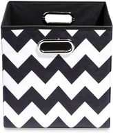 Bed Bath & Beyond Modern Littles Bold Folding Storage Bin in Chevron Black