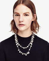 Ann Taylor Pearlized Bobble Necklace
