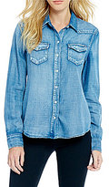 Jessica Simpson Pixie Denim Button-Down Chambray Shirt