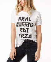 Mighty Fine Juniors' Eat Pizza Graphic-Print T-Shirt