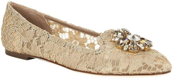 Dolce & Gabbana Embellished Lace Vally Flats
