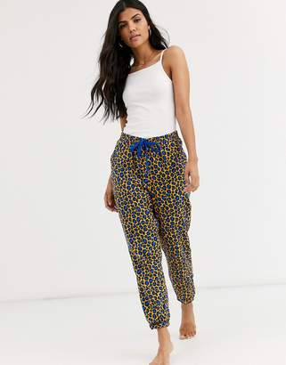 Cotton On Cotton:On dropped flannel pants in leopard-Multi