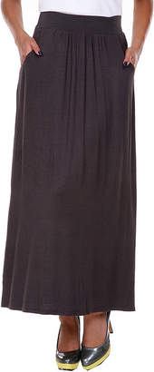WHITE MARK White Mark Womens Mid Rise Stretch Maxi Skirt