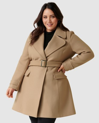 Forever New Curve Miley Curve Belted Wrap Coat